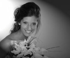 Fotografia della sposa in bianca e nero