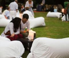 Allestimento luonge per il matrimonio nel verde a Parco Gambrinus