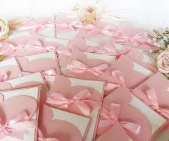 Partecipazioni Bijoux - Collezione cuore rosa quarzo