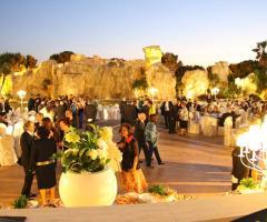 Ricevimento di nozze al tramonto