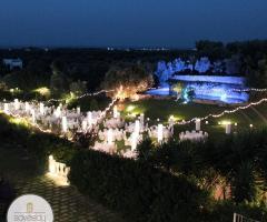 Il Trappetello - Una vista dall'alto per il matrimonio di sera