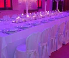 Allestimento del ricevimento di nozze a Palazzo Cardinal Cesi