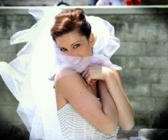 Fotografia del primo piano della sposa