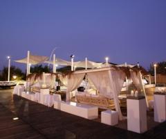 Lounge per ricevimenti in spiaggia a Bari