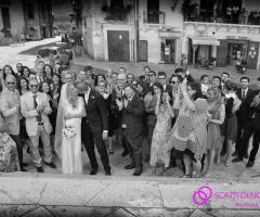 Servizio fotografico del matrimonio in bianco e nero