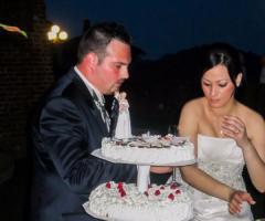 Castello di Cortanze - Gli sposi e la torta