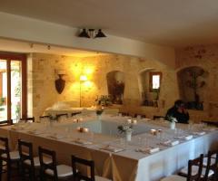 Masseria Montepaolo - Allestimento con il tavolo quadrato