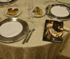 Dettaglio del tavolo e del menu di nozze - Il Brigantino Barletta