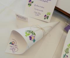 Sara Carloni Studio - Grafica con acquerello cono portariso