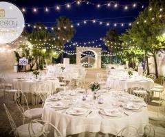 Il Trappetello - Allestimento per il matrimonio di sera