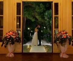 Gli sposi a Villa Igiea Palermo