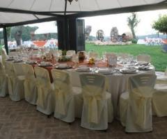 Ricevimento di nozze sotto il gazebo