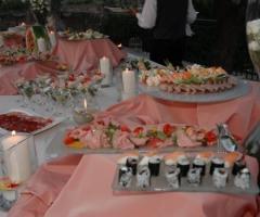 Particolare del buffet degli antipaasti di nozze