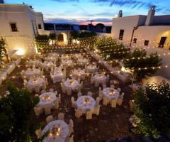 Masseria Montalbano - Vista dall'alto del ricevimento di nozze