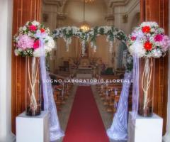 Il Sogno - Laboratorio Floreale - L'ingresso della chiesa
