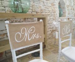 Masseria Bonelli - Se sedie degli sposi