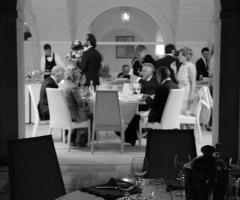 Masseria Traetta Exclusive - Il ristorante in bianco e nero