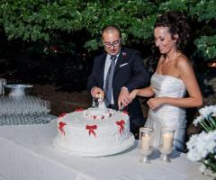 Fotografia del taglio della torta