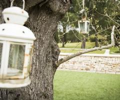Allestimento con lanterne del matrimonio