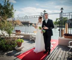 Il giardino di Villa Lina - Le foto ricordo degli sposi