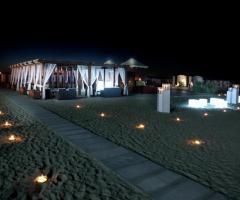 Gazebo allestito per un matrimonio in spiaggia - Il Brigantino Barletta