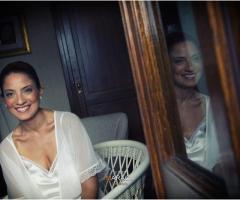 Foto dei preparativi a casa della sposa