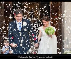 Fabrizio Foto - Gli sposi all'uscita dalla chiesa