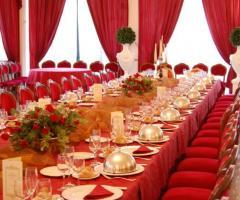 Tavolata rosso passione per le nozze - Astoria Palace Ricevimenti