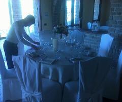 Torre in Pietra - Allestimento del tavolo di nozze