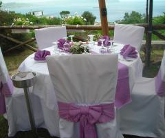 Mise en place rosa per il matrimonio