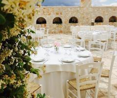 Masseria Grieco - i tavoli del ricevimento
