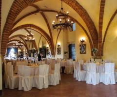 Castello di Cortanze - La bellezza della sala ristorante