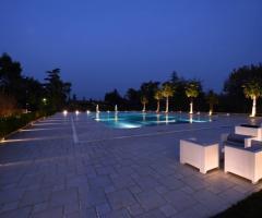 Murgia Garden Ricevimenti - La piscina di sera