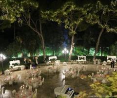 Villa Ciardi - Allestimento per il matrimonio serale all'aperto