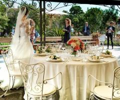 Il giardino di Villa Lina - Allestimento del ricevimento di nozze