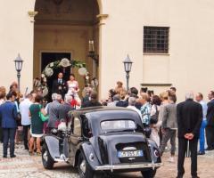 Castello di Cortanze - L'auto degli sposi