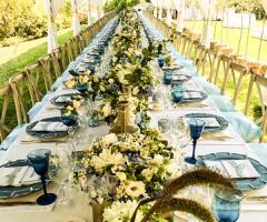 T'a Milano Catering & Banqueting - La tavola allestita per il matrimonio all'aperto