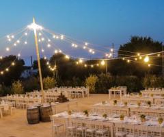 Casale del Murgese - Il ricevimento di nozze di sera
