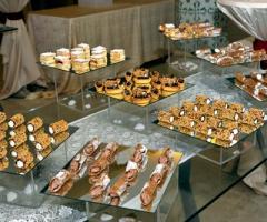 Buffet dei dolci per il ricevimento di matrimonio