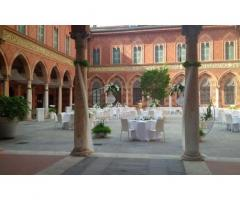 Palazzo Trecchi - Allestimento per il rinfresco all'aperto