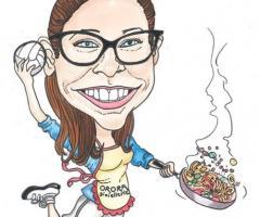 Caricature Charlotte - Ritratti e caricature dal vivo per matrimoni a Verona