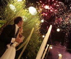 Fuochi d'artificio al matrimonio
