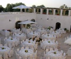 Masseria Casamassima - Allestimento per il matrimonio di sera