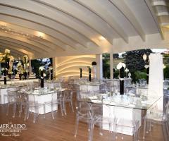 Lo Smeraldo Ricevimenti - L'interno del gazebo glamour