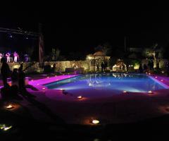 Masseria Luco - La piscina di sera
