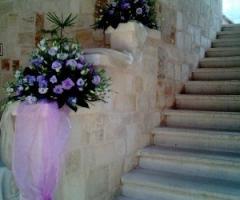 Masseria Bonelli - Allestimento floreale della location di matrimonio