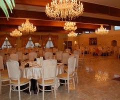Salone interno per il ricevimento di nozze