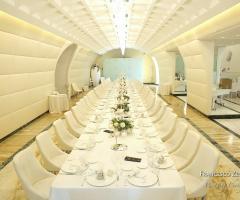 Villa Ciardi - l'allestimento dei tavoli