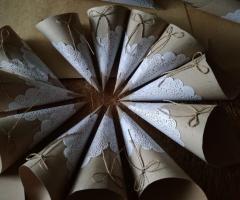Partecipazioni e Coordinati di Tonia D'Adderio - I coni porta riso