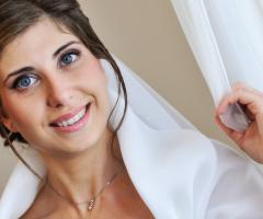 Primo piano della sposa